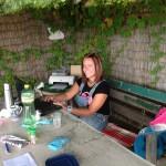 Zapisovačka, koordinátorka PC zabezpečení soutěže.... slečna Lucka H. :-)